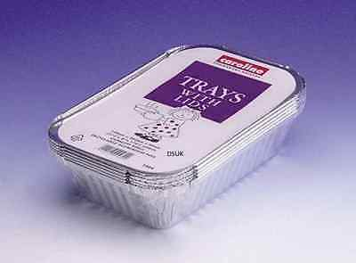 Foil Aluminium Tray Dish Container With Lid Hot Food Curry Backing 004
