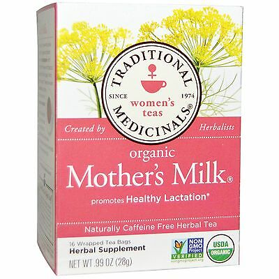 CERTIFIED ORGANIC NURSING TEA MOTHER'S MILK BY TRADITIONAL MEDICINALS x 16 BAGS