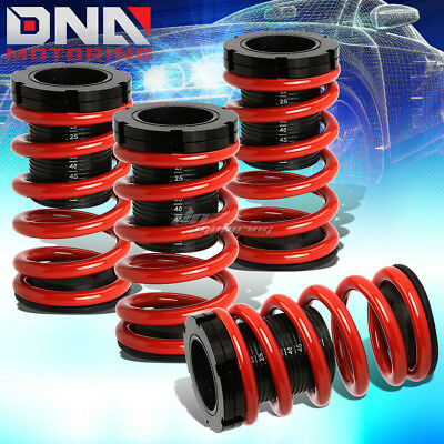 "For 01-05 Civic Em2 Es 1-3""scaled Suspension Lowering Coilover Red Coil Springs"