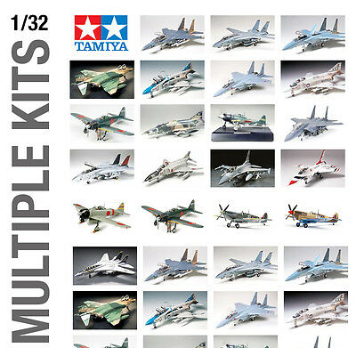 TAMIYA 1/32th AIRCRAFT PLANE PLASTIC MODEL KIT BUILD YOURSELF - ALL SETS!