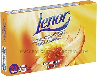 LENOR - Fabric Softener - Summer breeze - 25 Tumble Dryer Sheets