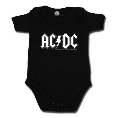 AC/DC Logo Baby Bodysuit Infant Kids Romper 4 Colour Official Size 0-18