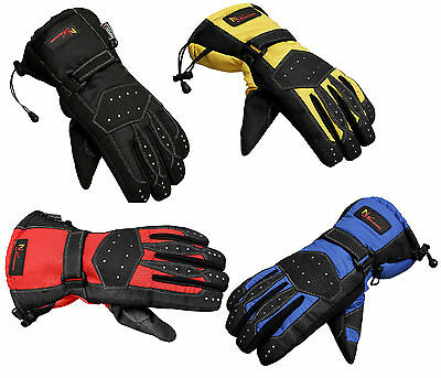 Tracker Textile Waterproof Thermal Winter Motorcycle Motorbike Gloves- 4 Colours