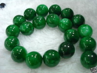 "6-10mm Natural Green Emerald Round Gemstone Loose Bead 15"" /1 Strand"