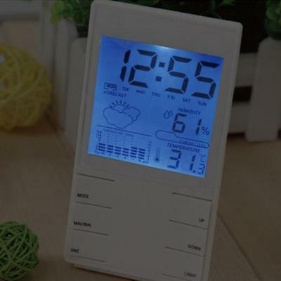 HTC-2S Precision Electronic Hygrometer White ABS Material Multifunctional