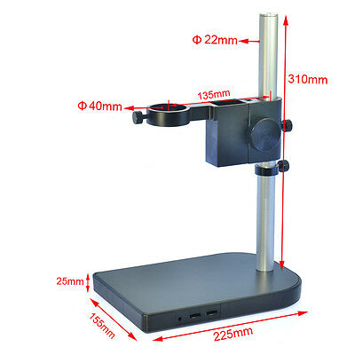 Big Lab Industry Stereo Microscope Camera Table Stand Dual Ring Holder max 40mm