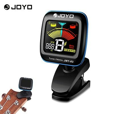 JOYO Chromatic Guitar Tuner Violin Ukulele Bass LCD Electronic Digital Clip on