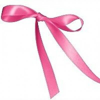 Approx 6 Yards 6Mm Hot Shocking Pink Satin Ribbon For Cards Or Crafts
