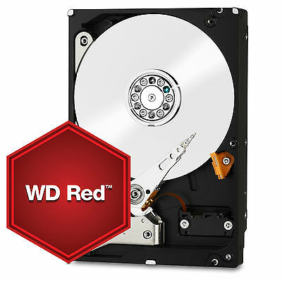 "WD Red 3.5"" Internal NAS HDD 1TB/2TB/3TB/4TB/5TB/6TB/8TB SATA3 64-128MB Network"