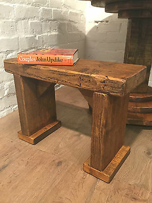 SINGLE Wide-Foot Solid Rustic Vintage Reclaimed Pine Plank Dining Table BENCH