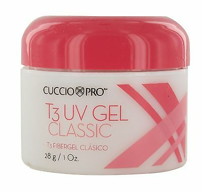 Cuccio T3 Fiber Gel Classic European flexible sculpting gel 3 colors 1oz (28g)