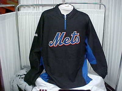 MLB New York Mets Team Issued Bullpen/Dugout Pullover Long Sleeve Jacket Size XL