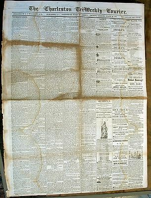 Newspapers- Confederate – Lot Of (2) Charleston Couriers- 1861.