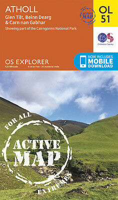 ATHOLL ACTIVE Map - OL 51 - OS - Ordnance Survey - *NEW*  INC. MOBILE DOWNLOAD