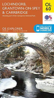 LOCHINDORB, GRANTOWN-ON Map - OL 60 - OS - Ordnance Survey  INC. MOBILE DOWNLOAD