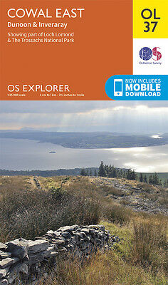 COWAL EAST Map - OL 37 - OS  Ordnance Survey - *NEW* INC. MOBILE DOWNLOAD