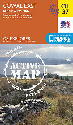 COWAL EAST ACTIVE Map - OL 37 - OS  Ordnance Survey - *NEW* INC. MOBILE DOWNLOAD