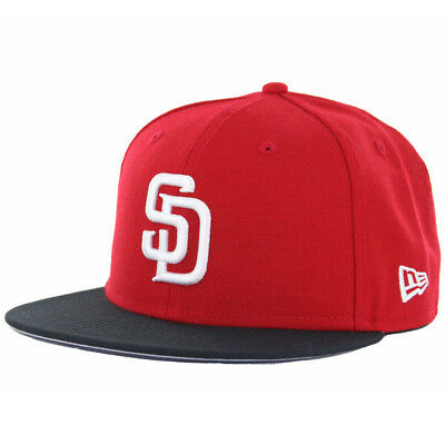 38f6cc6a8a9fb NEW ERA 5950 San Diego Padres Two Tone Basic (Red White-Black) MLB ...