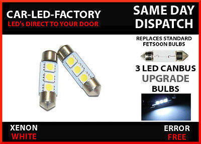 FORD FIESTA MK 6 CANBUS NO ERROR NUMBER PLATE LED LIGHT BULB FESTOON 36mm x2 C5W