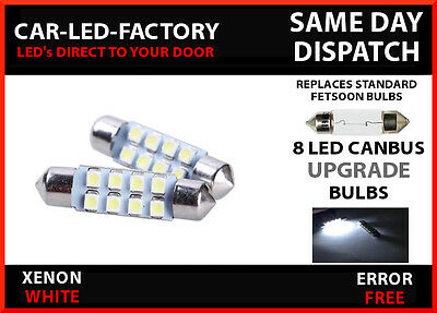 FORD FIESTA MK 6 CANBUS ERROR FREE 8 LED NUMBER PLATE LED BULB FESTOON 36mm C5W