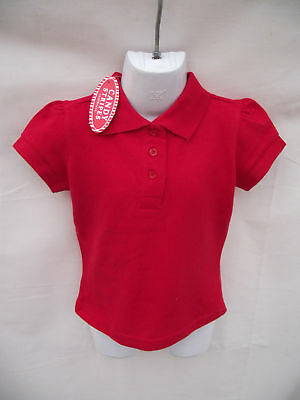 ~BNWT Girls Sz 4 Candy Stripes Cute Red Short Polo Top~