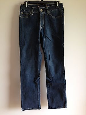 BNWOT Ladies Sz 8 Dark Blue Stretch Denim Target Brand Straight Leg Jeans