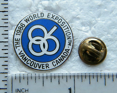 1986  -  Large  Expo ' 86    -  Brooch / Lapel Pin.