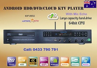 Karaoke Android 8832-64bits 6TB HDD 56500 Vietnamese, English songs DVD Player