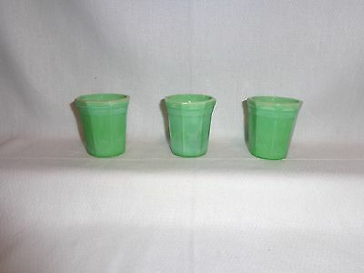 Vintage Glass Akro Agate Childs Cup Green (3)
