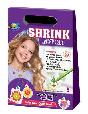 Shrink Art Kit - Jewellery Plastic Shrink Sheets Magical DIY Craft Bake Your Art