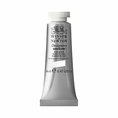 Winsor & Newton 14Ml Designers Gouache Tube Zinc White Crafts Painting Drawing