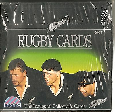 1991 unopened sealed box of Regina Rugby cards