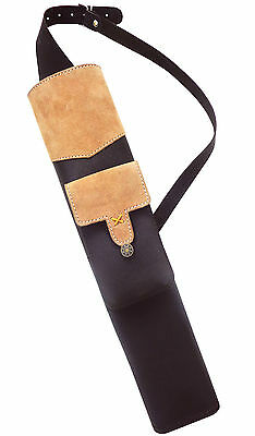 New Traditional Brown Leather Back Arrow Quiver Archery Products  Aq132.