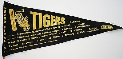 1982 Richmond Grand Final pennant Tigers and team