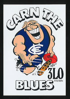 1990 3LO WEG Sticker Carn The Blues Carlton