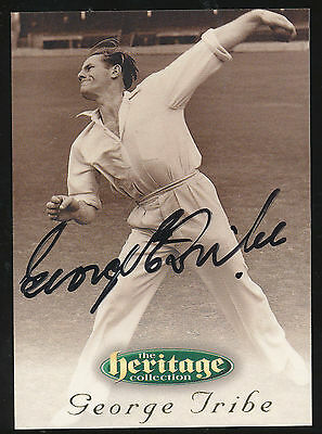 1996 Futera George Tribe Signature Heritage Collection Cricket Card no. 12