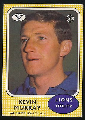1972 Scanlens No. 20 Kevin Murray Fitzroy Lions Card ****
