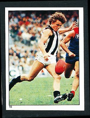 Scanlens 1984 Sticker No. 15 Gary Shaw Collingwood Magpies