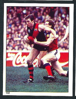 Scanlens 1984 Sticker No. 102 Shane Heard Essendon Bombers