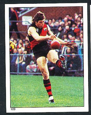 Scanlens 1984 Sticker No. 109 Neil Clarke  Essendon Bombers