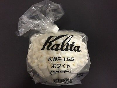 New WHOLESALE Kalita Wave Filter WHITE 155 100 Pieces #22201 22201 1 - 2 People