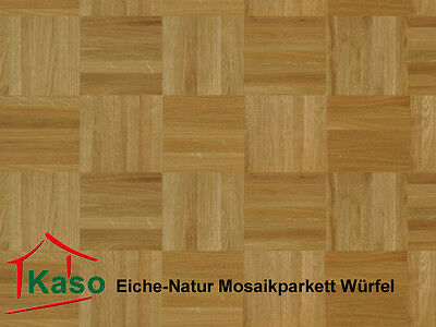 Eiche Natur Mosaikparkett Parkett 8 mm Massivparkett