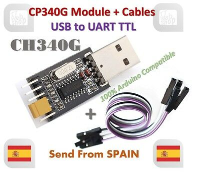 USB to TTL Converter UART Module CH340G CH340 3.3V 5V Switch Cable for Arduino