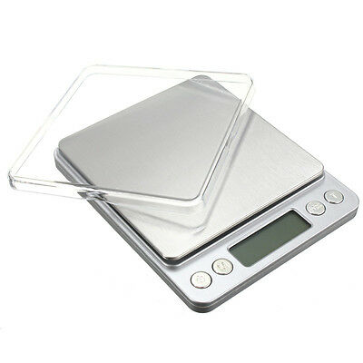 LCD Digital Stainless Scale 0.1g-3kg weight herb powder jewelery kitchen UK