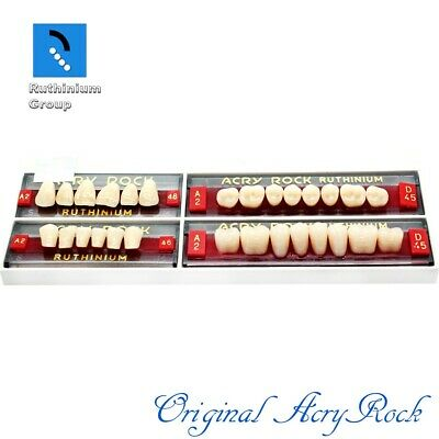 4pcs set Acrylic Dental Lab Teeth Ruthinium Acryrock  Teeth A2 Size 48 mouth