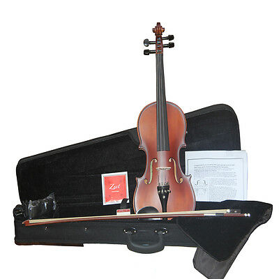 Zest Full Size 4/4 School Student Beginners Violin in Red, Wine & Brown