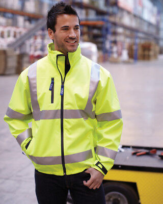 1 x Yoko Hi-Vis Softshell Jacket in Yellow- Security, First Responder, Ambulance