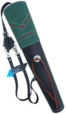 New Traditional Fine Black Mild Leather Back Arrow Quiver Archery Products Aq163