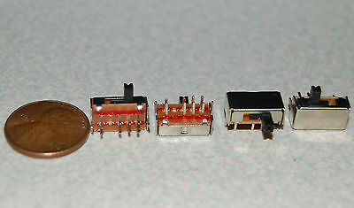 2pcs 3 Position 8 Pin 2P3T Micro Horizontal Slide Switch