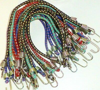 """20 pc 10"""" MINI BUNGEE CORDS by HIGHLAND, Assorted Colors in a Jar"""